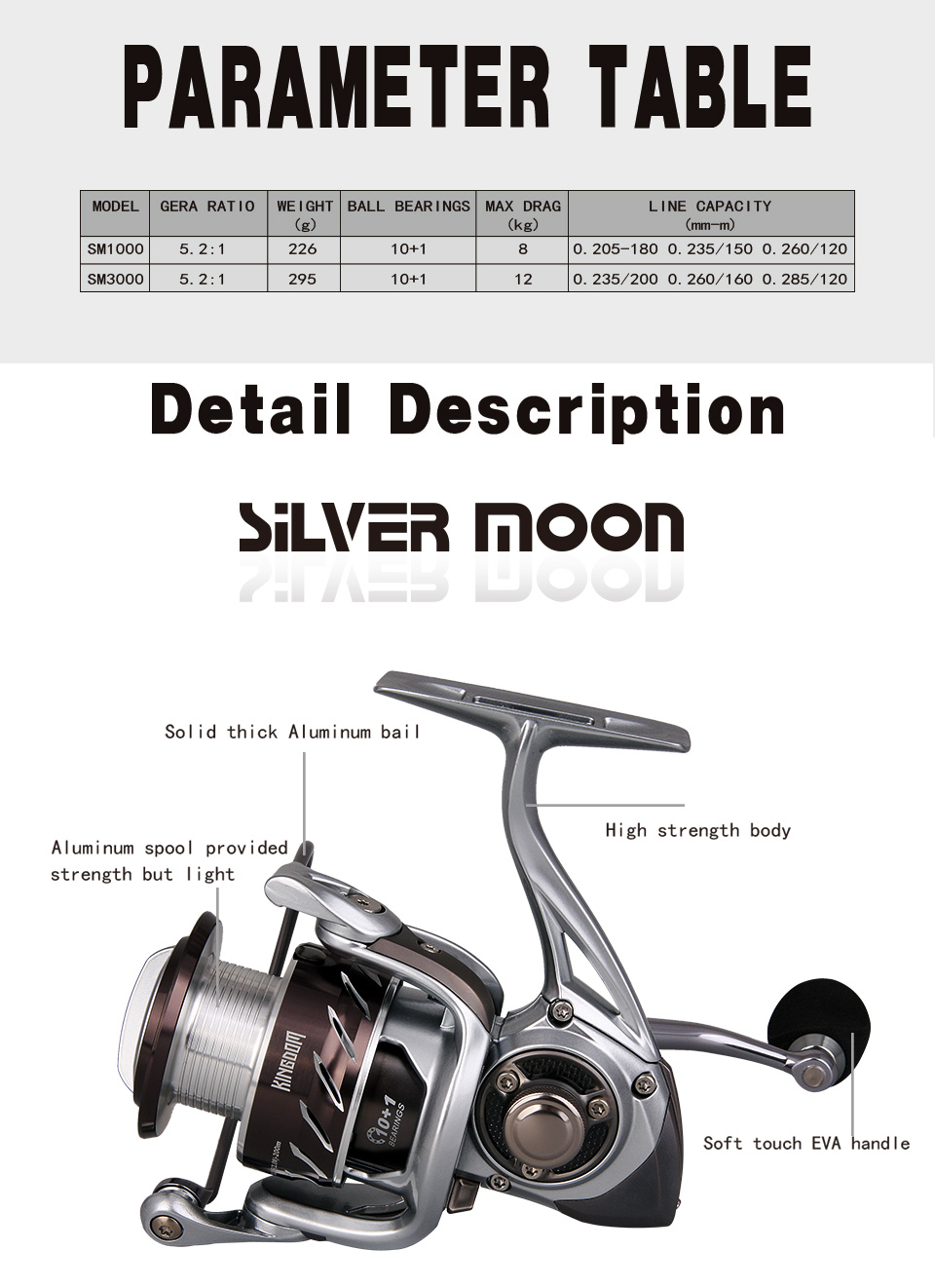 Kingdom Carbon Fiber Bait Casting Fishing Reel 10+1BB 5.21 226g 295g High Speed Fishing Reels Spinning Saltwater (1)