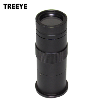 8X-100X Microscope Industry Lens C Mount Compatible with VGA AV TV Video Output Camera   for LAB PCB F3.0