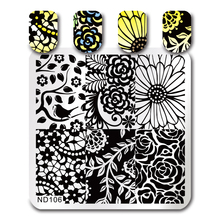 NICOLE DIARY Nail Art Stamping Image Plates Floral Patterns High Quality DIY Stainless Steel Stamping Template 26247(China)