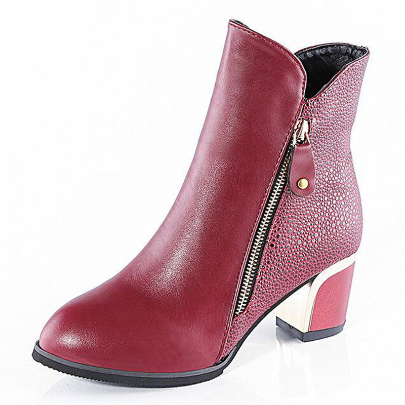 Womens Martin boots 2016 autumn and winter with the pointed side of the new zipper thick with bare boot 34-40 yards optional<br><br>Aliexpress