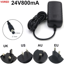 VORED 24V800mA Power Adapter Water cleaner /Security monitor Charger US/EU/UK/AU Plug Converter DC 5.5*2.1mm Free shipping(China)