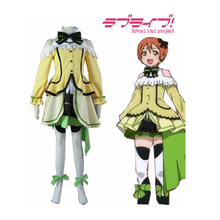 Japanese animeLove Live! Hoshizora Rin Chapter 12 Yellow Lolita Dress Cosplay Costume Girl dress Size XS-XXXL
