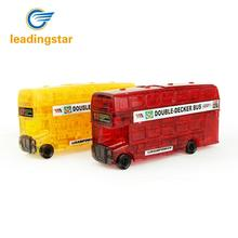 LeadingStar 3D DIY Crystal Double Decker Bus Puzzle Jigsaw Toys as Gifts for Kids ZK25(China)
