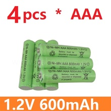 4 psc/lot High quality and high energy remote control toy rechargeable Ni MH rechargeable battery AAA 1.2V 600mAH Free Shipping(China)