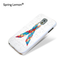 Spring Lemon Puzzle Autism Awareness Hard White Cell Phone Case For Samsung Galaxy Note 3 4 5