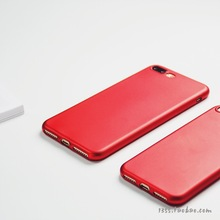 Ultra Thin Red Matte Soft TPU original Case For Apple iPhone 7 6 6S Plus Back Cover Sillicone Phone Protective Full Cases coque
