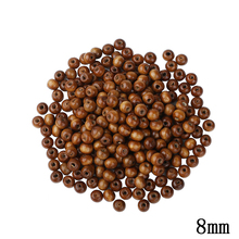 8MM Charms Beads Natural Diy Wooden Beads Set 300pcs/Lot Coffee Brown DIY Wood Beads For Jewelry Making Round Hole Beaded(China)
