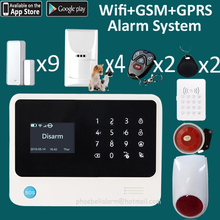 Top selling GSM Wifi Wireless Home Security Burglar Alarm Systems Auto Dialing Dialer Call APP pop up message