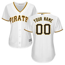 MLB Women's Pittsburgh Pirates Black Alternate Cool Base Custom Jersey(China)