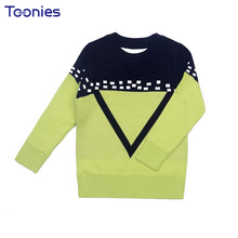 2017 Childrens Wear Long Sleeve Knitted Sweater Casual Kids Cardigan School Boys Sweaters autumn Warm Outerwear Blusas De Malha(China)