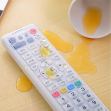 Silicone Dust Storage Boxes Transparent TV Remote Control Cover Protective Organizer Home Wholesale Bulk Accessories Supplies(China)