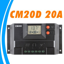 20A Solar Charge Controller 12V 24V solar panel controller LCD display GEL Battery type option FLOODED SEALED lighting LED CM20D