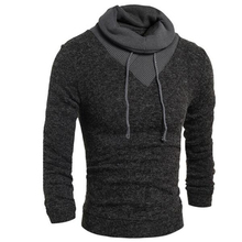 Hoodies Men Fashion Winter Coats Long Sleeve Hoodie Men's Outer Wear Casual Slim Sweatshirts Turtleneck Men's Hoodies H7754