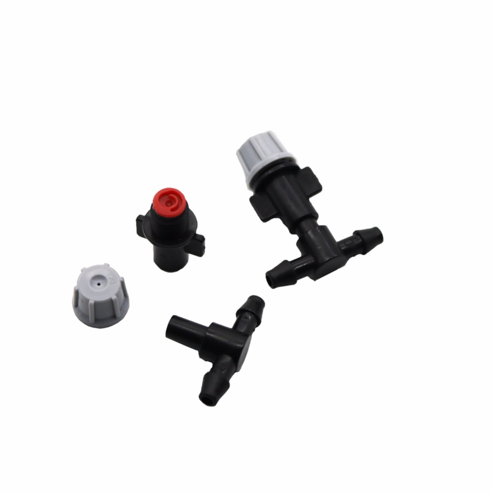 HTB1rsQsSXXXXXcWXVXXq6xXFXXXq - 1 Sets Fog Nozzles irrigation system - Automatic Watering 10m Garden hose Spray head with 4/7mm tee and connector