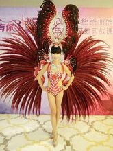 Feather clothing Stage performance catwalk carnival Headdress flower pubs party Men's wear women's clothing(China)