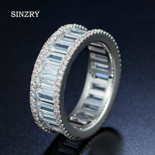 SINZRY jewelry Hot New Cubic zirconia CZ geometry finger ring Personality shinning jewelry band ring 3 color option