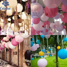 6/8/10/12/14/16 Inch Round Chinese Paper Lantern Birthday Wedding Party Decor Gift Craft DIY Supplies(China)
