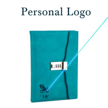 Paperboat retro A5 notebook with lock logo name custom writing pads lockable binder password school diary supplies student gift