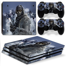 16 Call of Duty Vinyl Decal PS4 Pro Skin Stickers for Sony PlayStation 4 Pro Console and 2 Controllers Decorative Skins