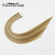 "FOREVER HAIR 2.0g/pc 18"" Remy Tape In Hair Extension Piano Color #10/613 100% Real Human Skin Weft Hair Extensions 20pcs/pack(China)"