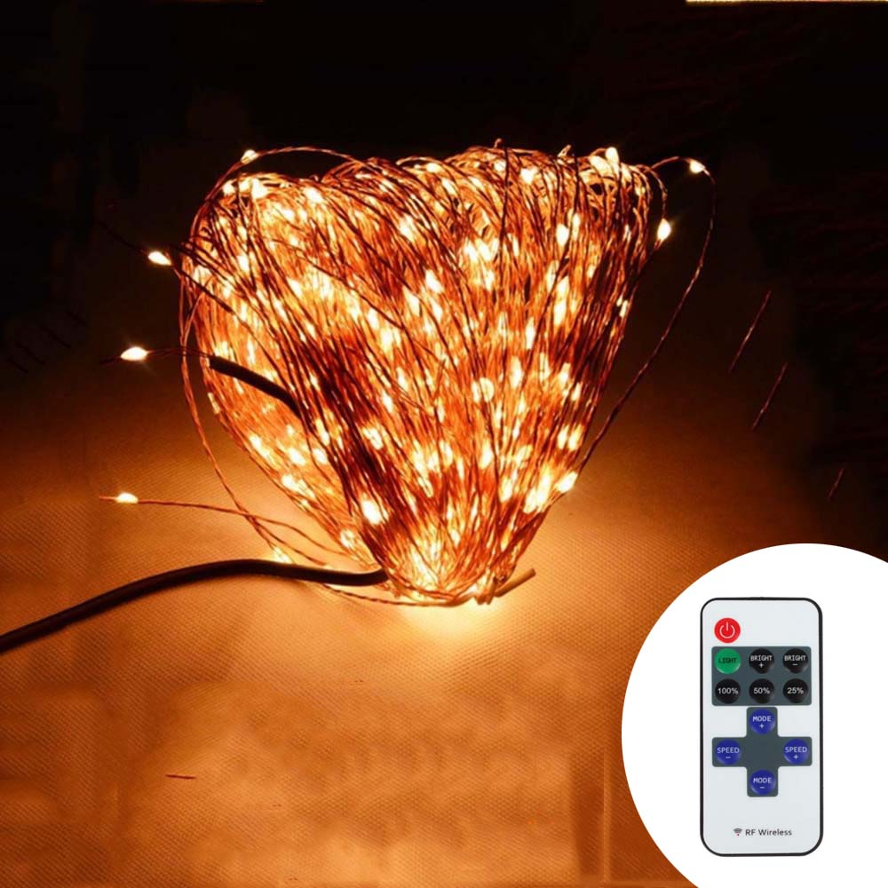 Indoor Outdoor  Wireless Control 164Ft 50M 500 LED String Lights + Power Adapter<br><br>Aliexpress