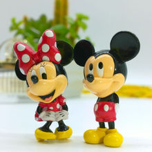 Original Mickey Mouse And Minnie Mouse Toy 2pcs/set figure for kids