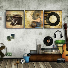 Nordic Retro music instruments pictures Christmas High quality Canvas Living Room Wall Art  Poster office room decor