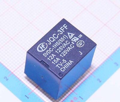50PCS  5V Volt Power Relay JQC-3FF/05-1HS (551)<br>