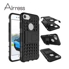 Airress TPU/PC 2in1 Armor Rugged Protective Kickstand Phone Case Cover Skin for iphone SE 6 6s 7 7 plus