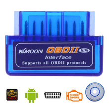 Kkmoon Mini V2.1 OBD2 OBD 2 Bluetooth Interface Auto Car Scanner Diagnostic-Tool for Android for WIin7 PC