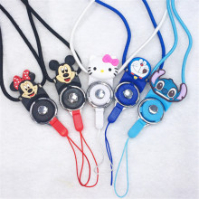 10pcs/lot Universal Fashion Cartoon Mobie Phone Lanyard Straps Mickey Minnie Mouse KT Cat Doraemon Stitch Cell Phone Neck Chain