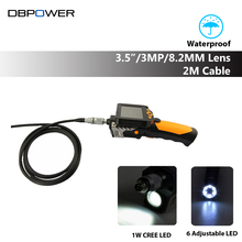 DBPOWER Endoscope NTS200 Inspection Camera with 3.5 Inch LCD Monitor 8.2mm Diameter 2 Meters Tube Borescope Zoom Rotate Flip(China)
