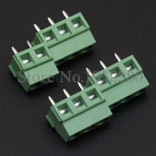 50PCS PCB Screw Terminal Blocks Conenctor 5.0mm Pitch 2P/3P KF127V Straight Pin Copper Spring Terminals(China)