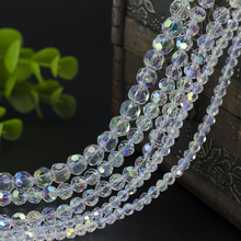 Free mail 4mm / 6mm / 8mm32 surface cut beads beads AB DIY hand jewelry beads(China)