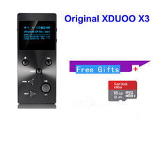 Xduoo X3 MP3 HIFI Music Player with HD OLED Screen Support APE/FLAC/ALAC/WAV/WMA/OGG/MP3 With Free 16GB TF card (have coupon)(China)