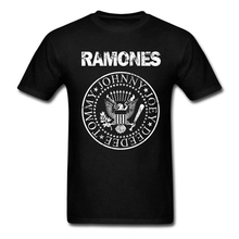 Ramones T-Shirt Men Women Punk Rock Band Music Logo Vintage Tops Tee Shirts Cotton Short Sleeve Burnout Tshirt Harajuku Korean(China)