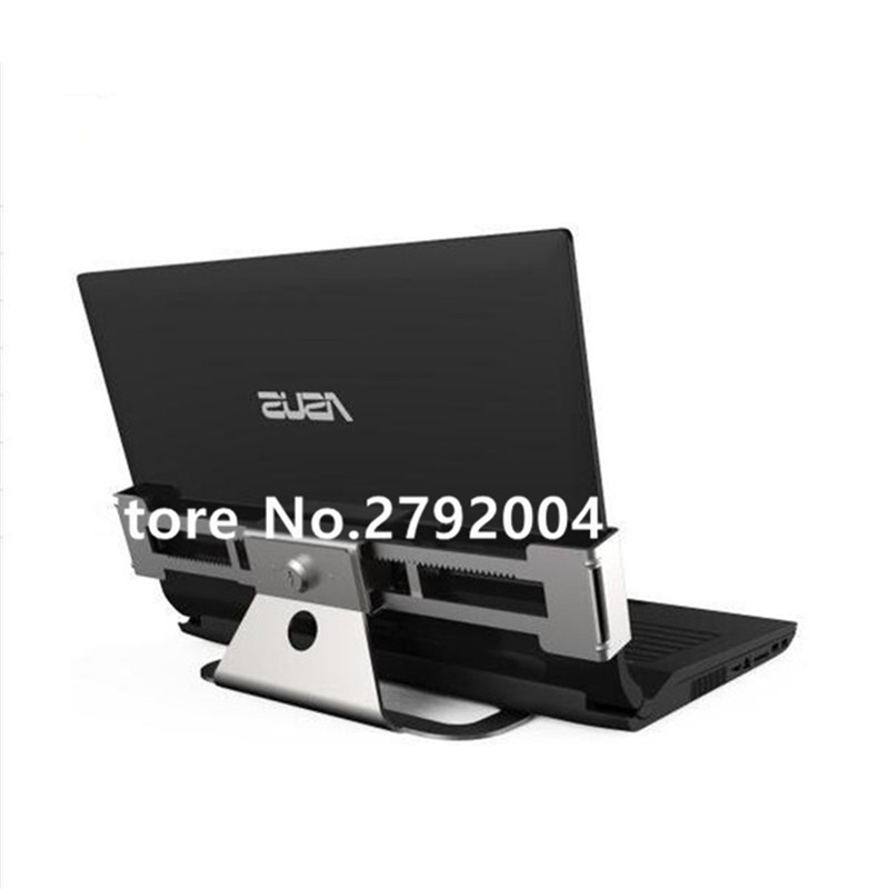 Metallic stretch laptop security display stand notebook computer desk mount anti-theft lock for all kinds of laptop with keys<br>