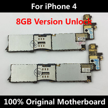 Wholesale Cheapest 100% Original Official Motherboard For iPhone 4 Unlocked Mainboard 8GB Full Chips IOS Logic Board 5pcs/lot