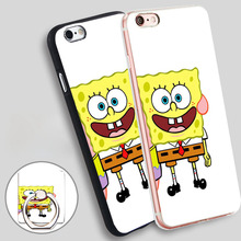 Patrick SpongeBob are BEST Friends bob Phone Ring Holder Soft TPU Silicone Case Cover for iPhone 4 4S 5C 5 SE 5S 6 6S 7 Plus