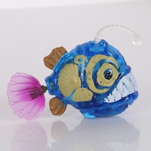 Funny Swim Electronic fish Activated Battery Powered Toy Pet for Fishing Aquarium Tank Decorating Fish Lantern fish(China)