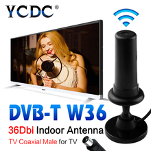 2016 HOT HD Gain Black Digital DVB-TW36 36dBi 470-862MHz Booster Indoor Antenna For HDTV digital tv signal amplifier EL5935(China)