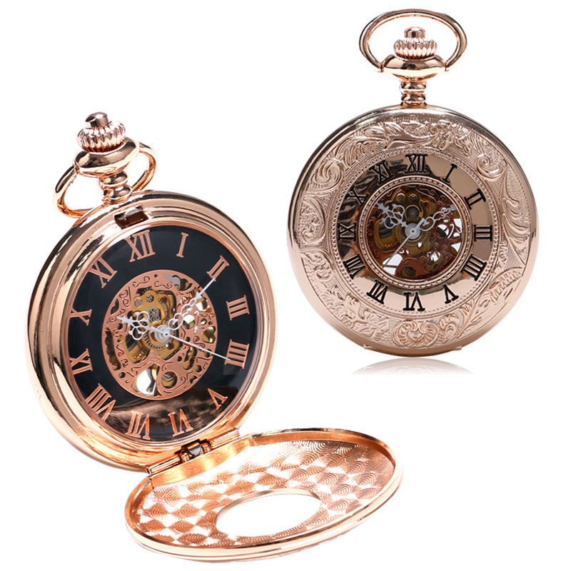 Charm Golden Mechanical Pocket Watch Women Steampunk Watches relogio feminino Gift for women P884C<br><br>Aliexpress