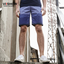 VIISHOW Shorts Men Homme Blue Casual Trouser Summer Short Cargo Shorts Men KD76862(China)