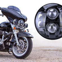 "DOT E9 Mark High Low Beam 7"" Black Chrome Lamp LED Harley Motorcycle HID Projector Headlight 7"" Motorcycle Led Driving Lights"