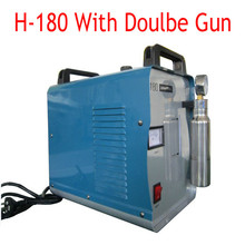 220V Portable Oxygen Hydrogen Water Welder Flame Polishing Machine 95L With Double Gun