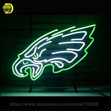 Eagle Beer Bar Neon Sign Decorate Wall Real Glass Tube Cool Neon Bulbs Recreation Room Garage Indoor Frame Sign Display 19x15(China)