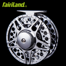"5/6 90mm 3.54"" 2BB+1RB METAL fly wheel LARGE ARBOR design PRECISION MACHINED fly reel from BAR-STOCK aluminum fishing reel(China)"
