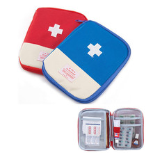 Portable First Aid Medical Kit Travel Outdoor Camping Useful Mini Medicine Storage Bag Camping Emergency Survival Bag 2 Color(China)