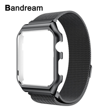 Milanese Loop Band + Metal Frame for iWatch Apple Watch 38mm 42mm Series 3 2 1 Watchband Stainless Steel Strap Wrist Bracelet(China)