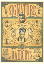 """SIGNATURE HAIRCUTS"" Retro Kraft Paper Hairdressing Poster Wall Sticker Painting Creative Tattoo Studio Barber Shop Decoration(China)"